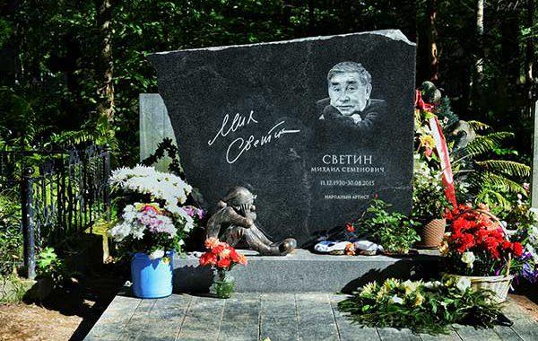 Могила актера Михаила Светина